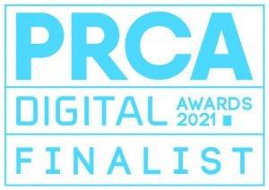 PRCA Digital Awards Finalist Logo