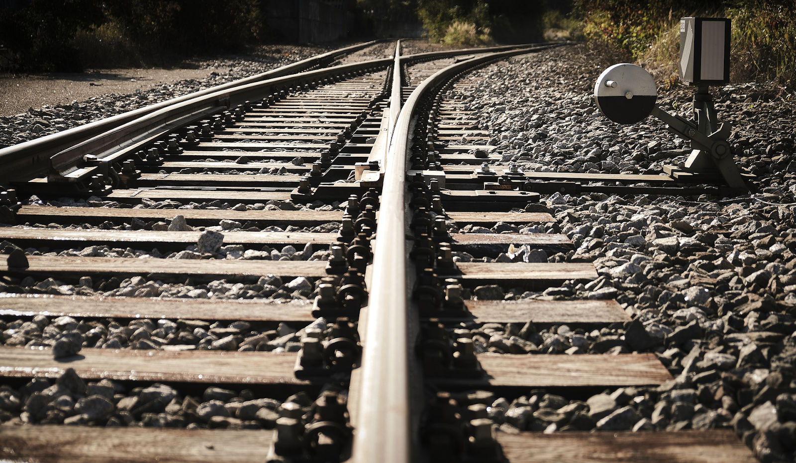 default point on a railroad track
